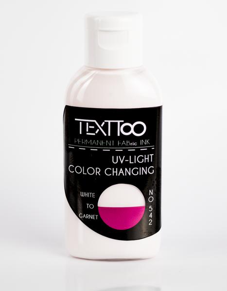 UV Light Color Changing White to Garnet